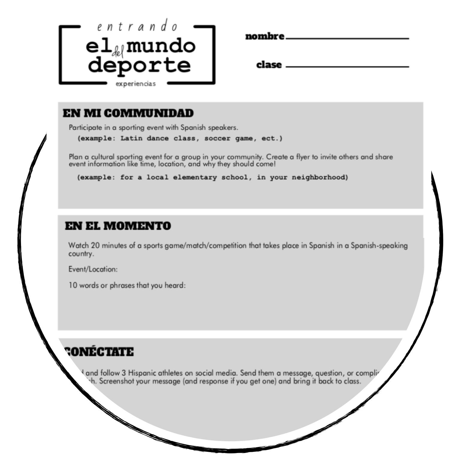 thematic units for elementary spanish